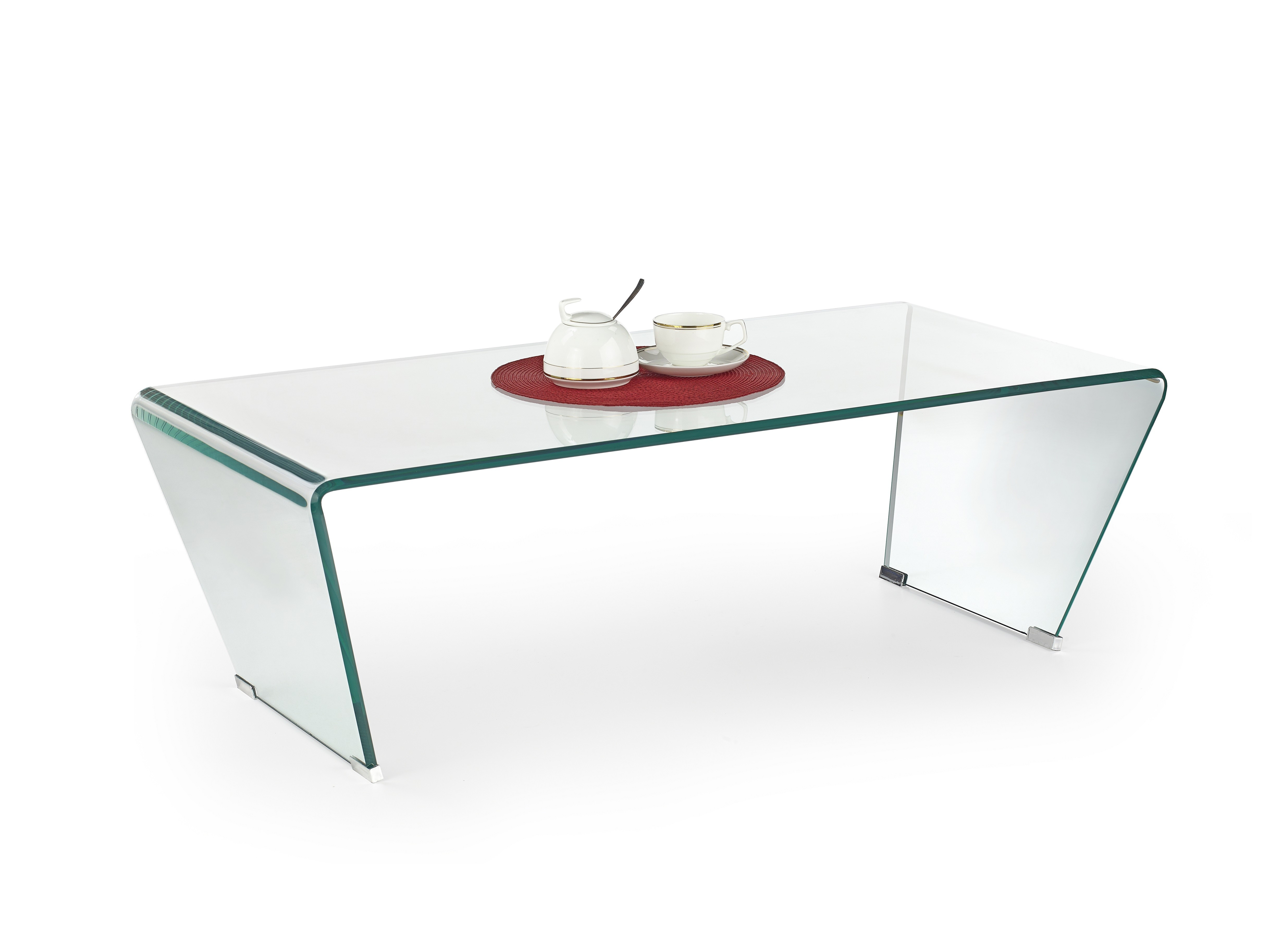 Olly Clear Bent Glass Coffee Table With Angled Legs regarding proportions 4943 X 3627