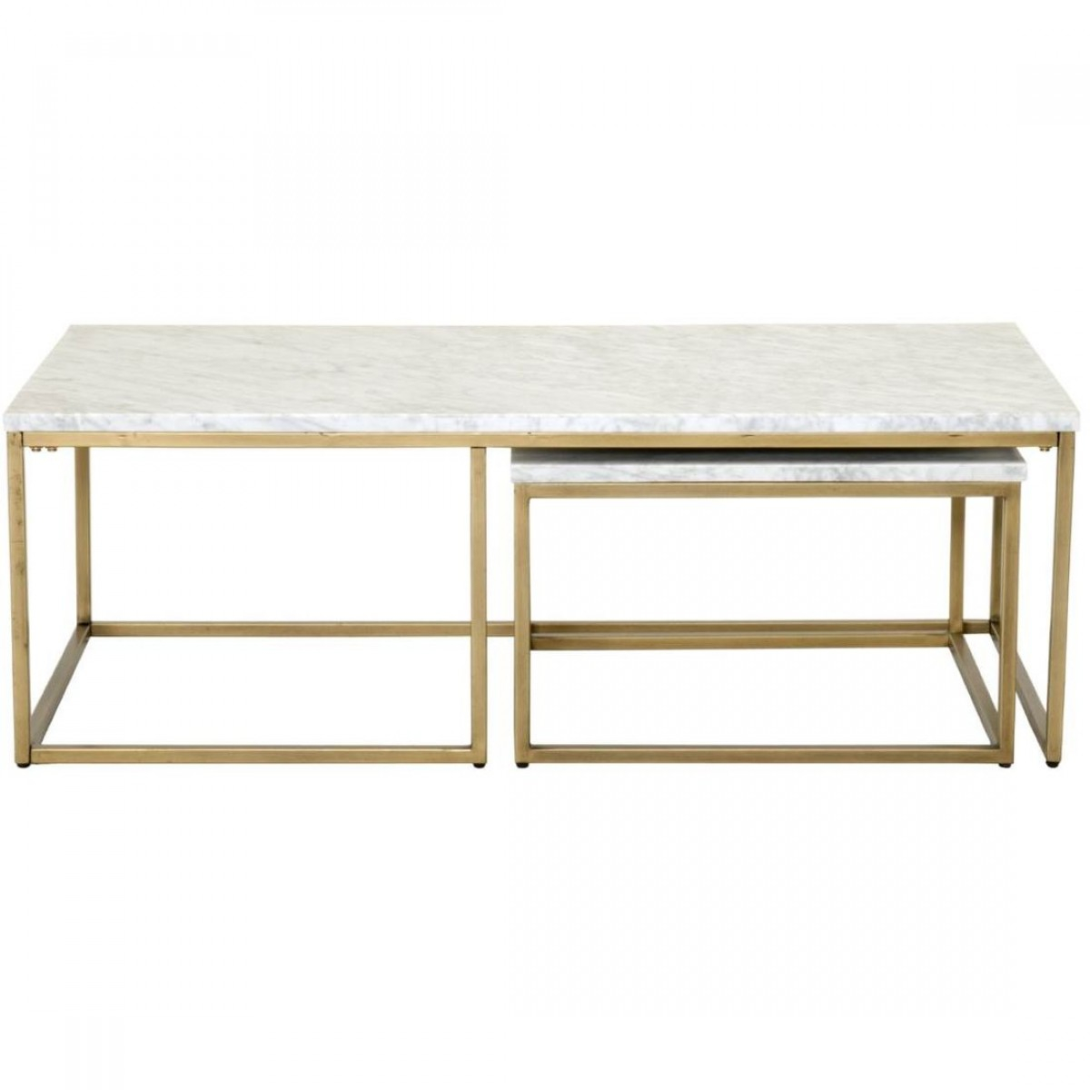 Orient Express Traditions Carrera Nesting Coffee Table In White with measurements 1200 X 1200