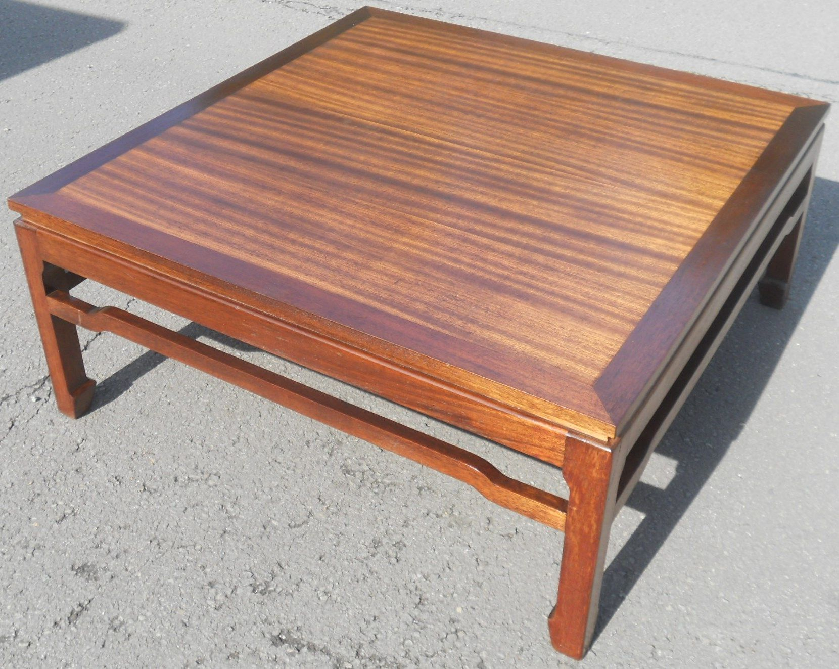 Oriental Large Mahogany Square Coffee Table regarding proportions 1660 X 1323