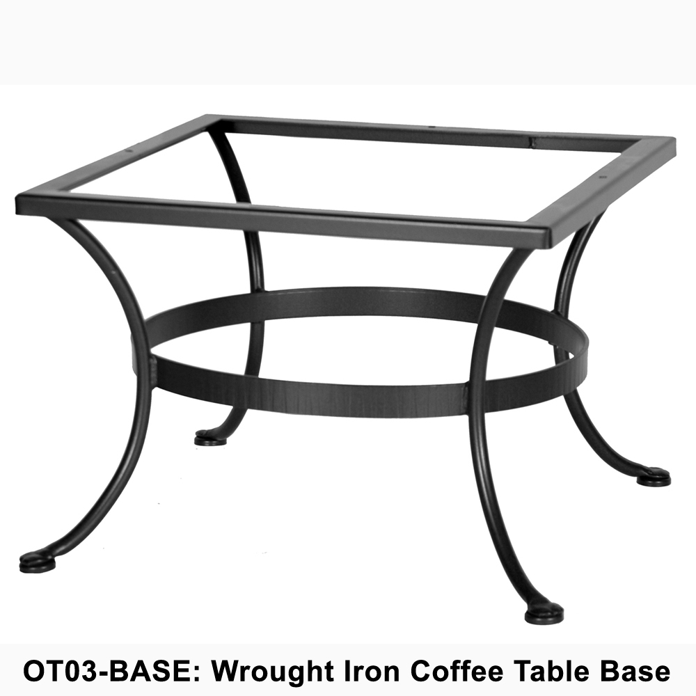 Ow Lee Standard Wrought Iron Coffee Table Base Ot03 Base in dimensions 1000 X 1000