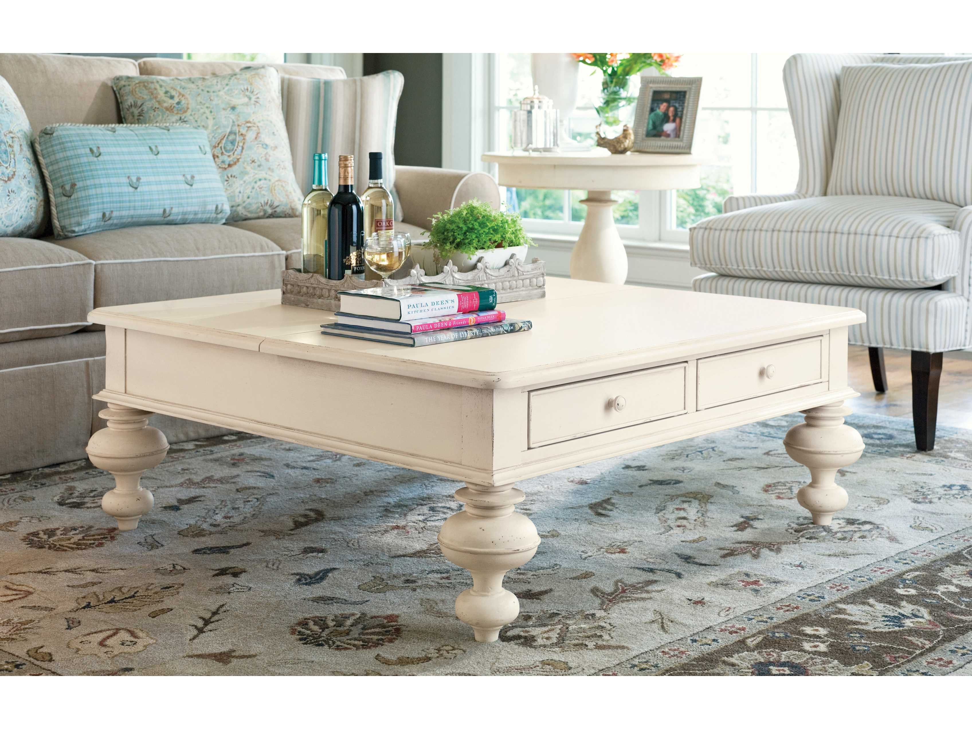 Paula Deen Home Linen 44 Square Put Your Feet Up Coffee Table inside size 3392 X 2545