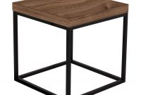 Prairie Walnut Black Modern End Table Temahome Eurway for dimensions 900 X 900