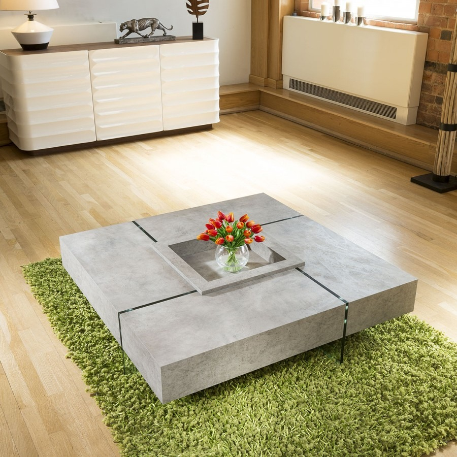 Quatropi Modern Large Square Concrete Coffee Table 1194 X 1194 X intended for sizing 900 X 900