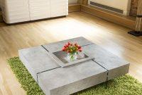 Quatropi Modern Large Square Concrete Coffee Table 1194 X 1194 X throughout proportions 900 X 900