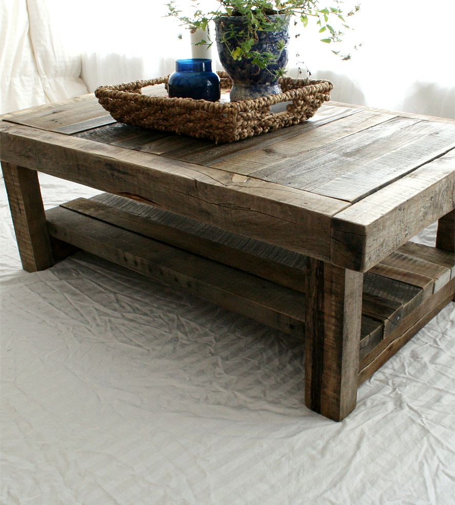 Reclaimed Barnwood Coffee Table Everettco On Scoutmob Shoppe Old intended for sizing 888 X 986