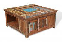 Reclaimed Indian Square Storage Coffee Table Casa Bella Furniture Uk regarding dimensions 1385 X 1000