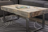Reclaimed Wood Coffee Table Tube Steel Legs Free Shipping Jw with regard to proportions 900 X 900