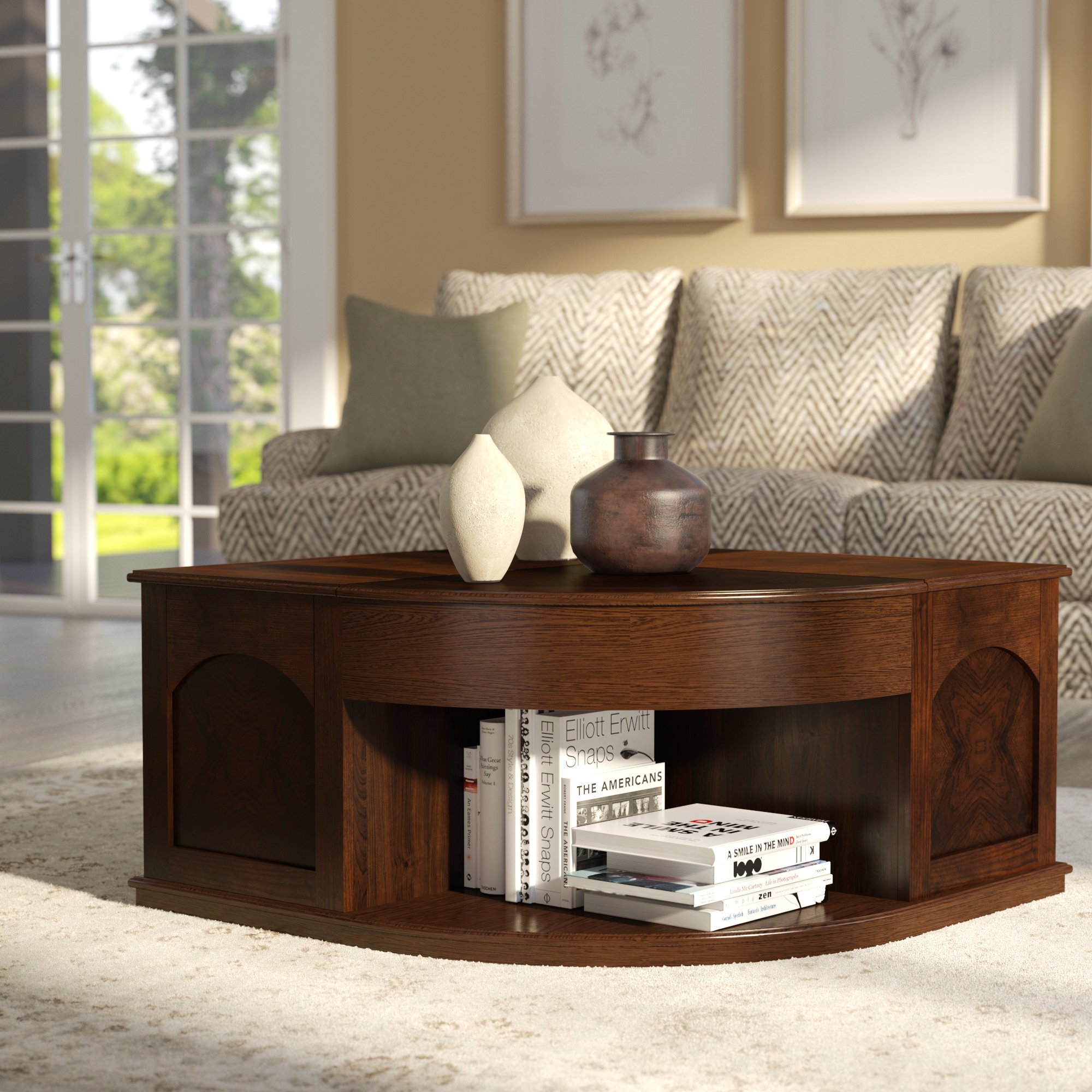 Red Barrel Studio Weidler Double Lift Top Coffee Table With Tray Top intended for size 2000 X 2000