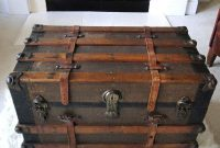 Reserved For Eric Large Antique Steamer Trunk Coffee Table Flat Top for dimensions 1000 X 1000