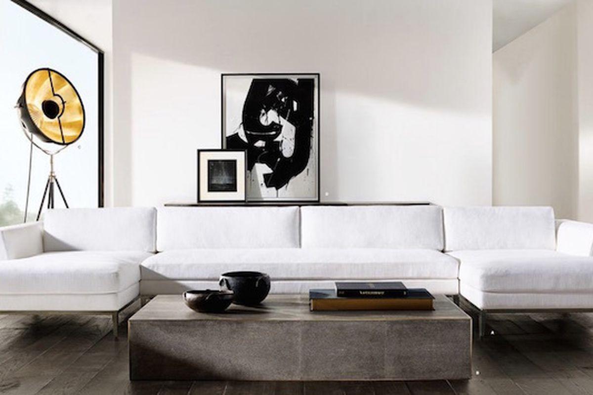 rh modern coffee table • display cabinet