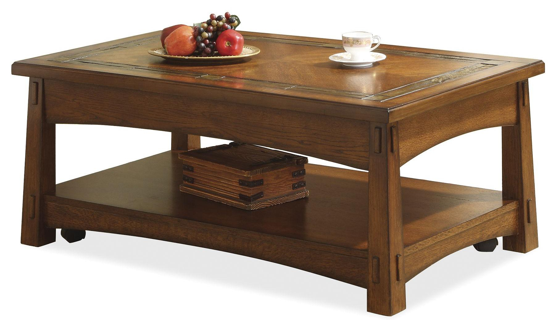 Riverside Furniture Craftsman Home Lift Top Coffee Table With Slate for measurements 1789 X 1036