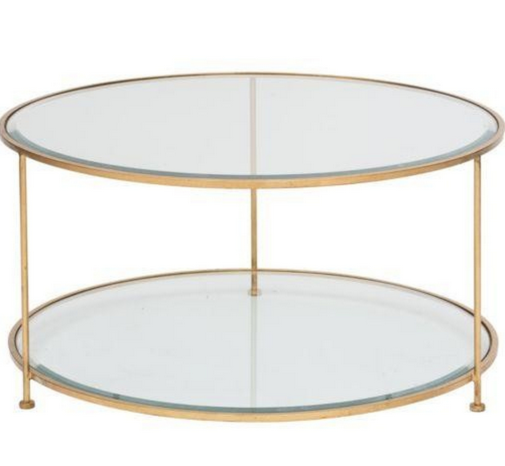 Rollo Round Gold Coffee Table pertaining to proportions 1002 X 926