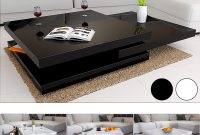 Rotating Coffee Table High Gloss Layers Modern Living Room Furniture throughout measurements 1000 X 1000