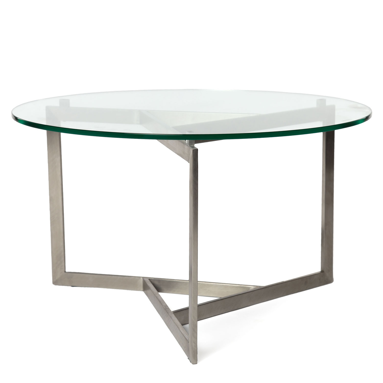 Round Glass Top Modern Coffee Table in measurements 1500 X 1500