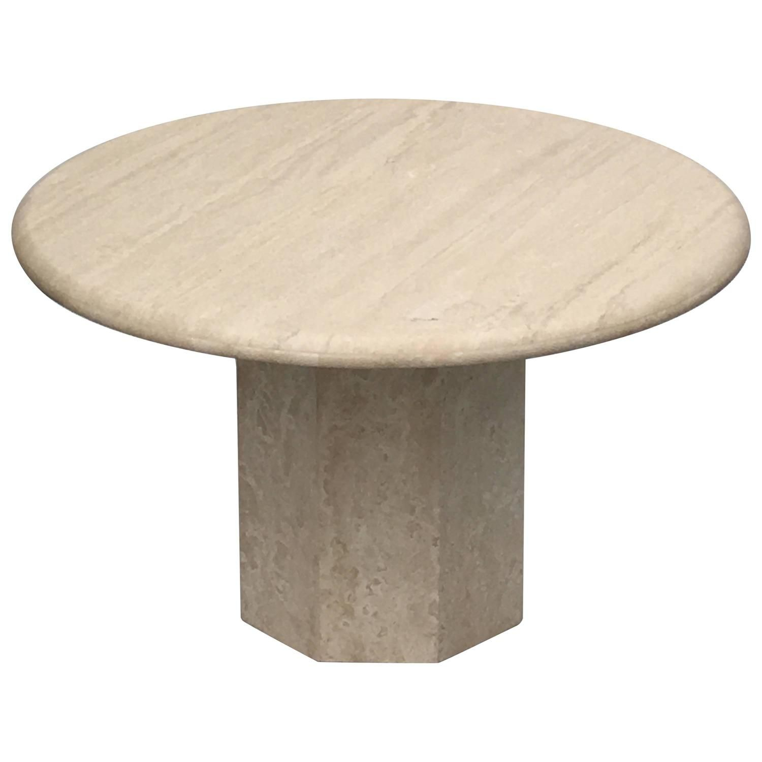Round Italia Travertine Dining Table I Like Nice Things 3 inside proportions 1500 X 1500