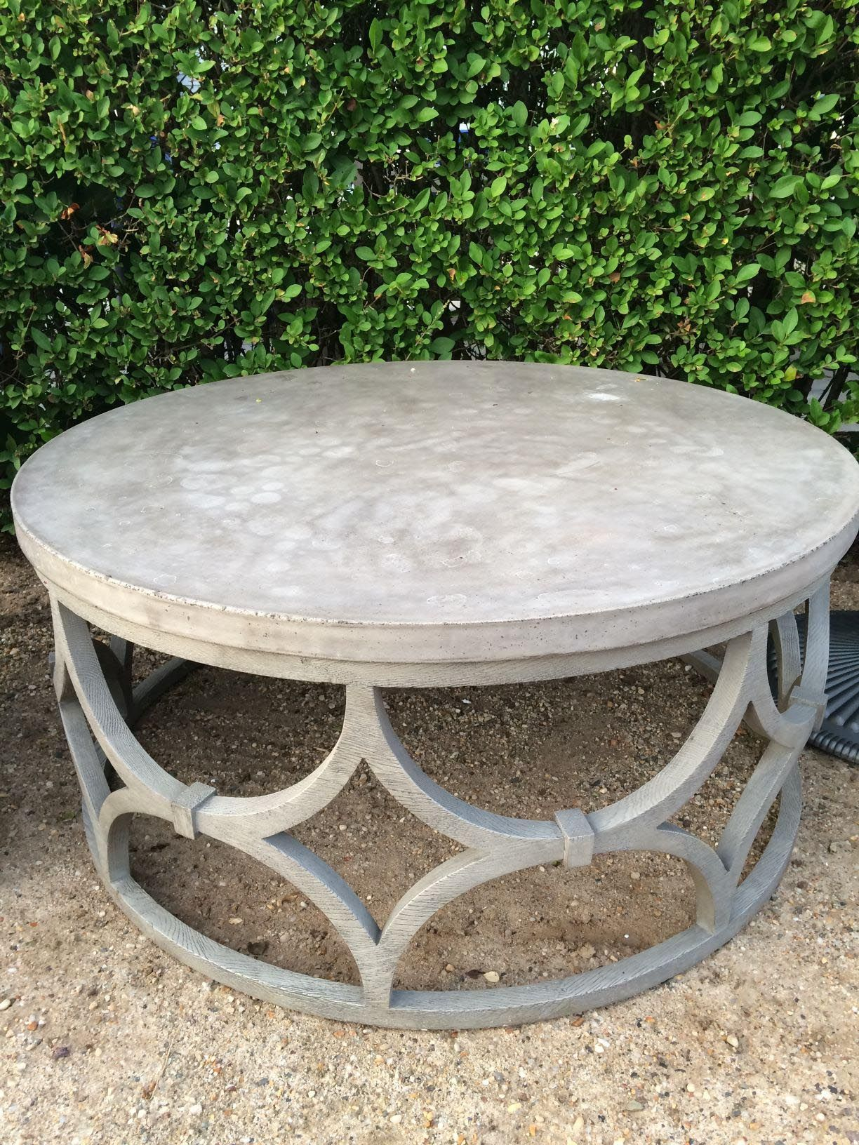 Round Outdoor Coffee Table Coffee Tables In 2019 Stone Coffee pertaining to measurements 1224 X 1632