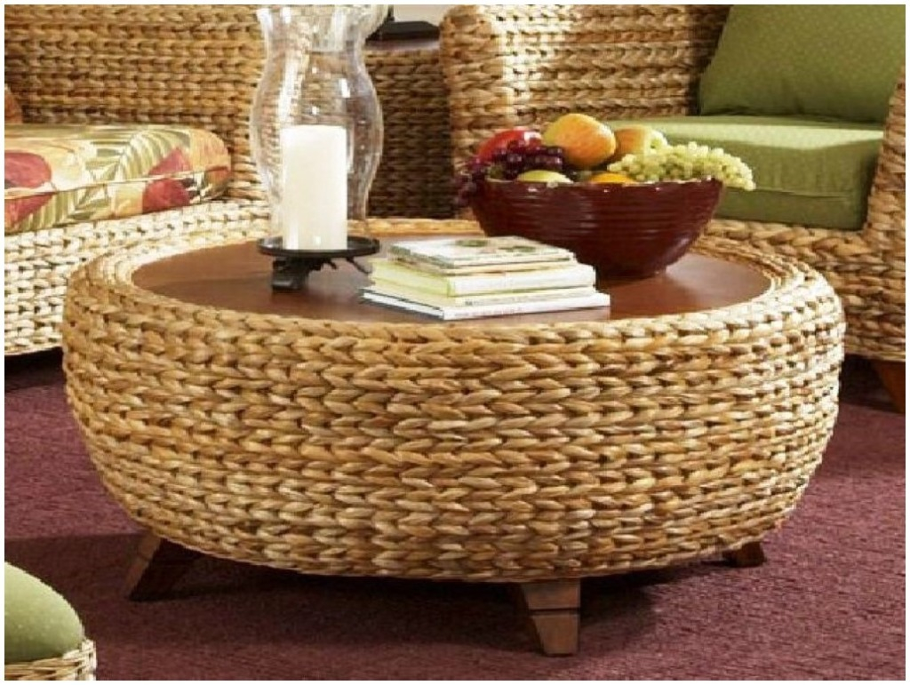 Round Seagrass Coffee Table Coffee Tables intended for size 1024 X 771