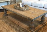 Rustic Baluster Wide Plank Coffee Table Etsy within measurements 960 X 960