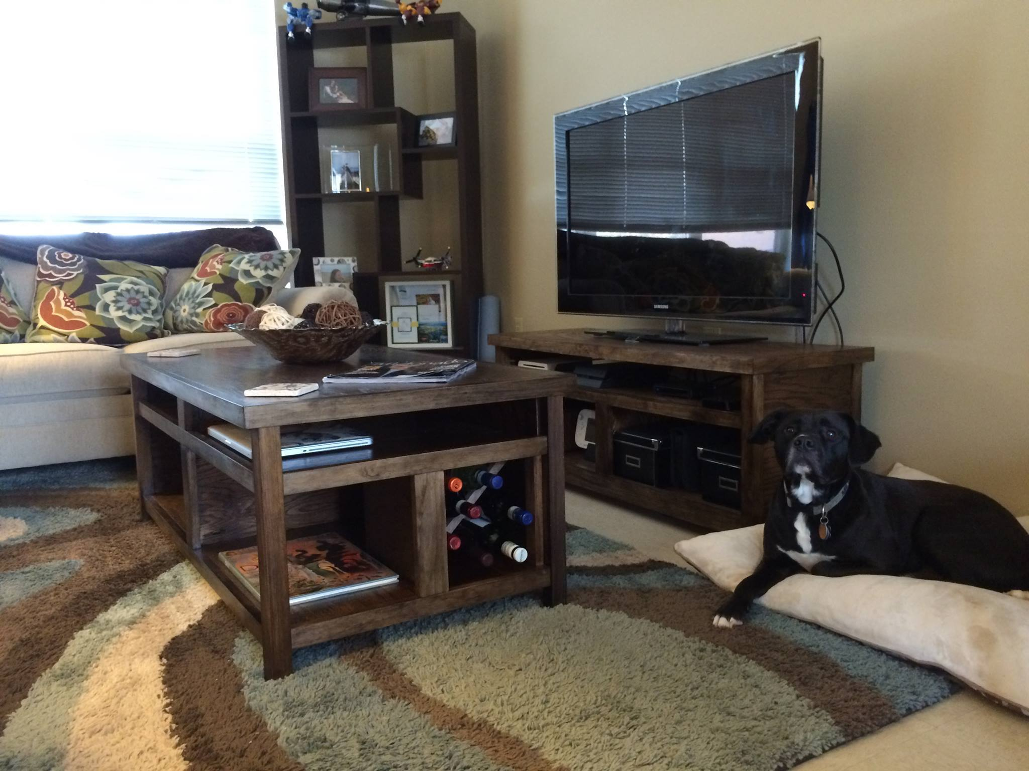 Rustic Coffee Table And Tv Stand Combo Ryobi Nation Projects regarding sizing 2048 X 1536
