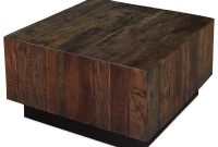 Rustic Lodge Square Ebony Walnut Coffee Table Kathy Kuo Home in dimensions 1000 X 1000