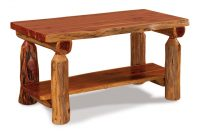 Rustic Log Coffee Table From Dutchcrafters Amish Furniture for size 1920 X 1329