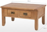 Rustic Oak Small 2 Drawer Coffee Table Quercus Living regarding dimensions 2500 X 1103