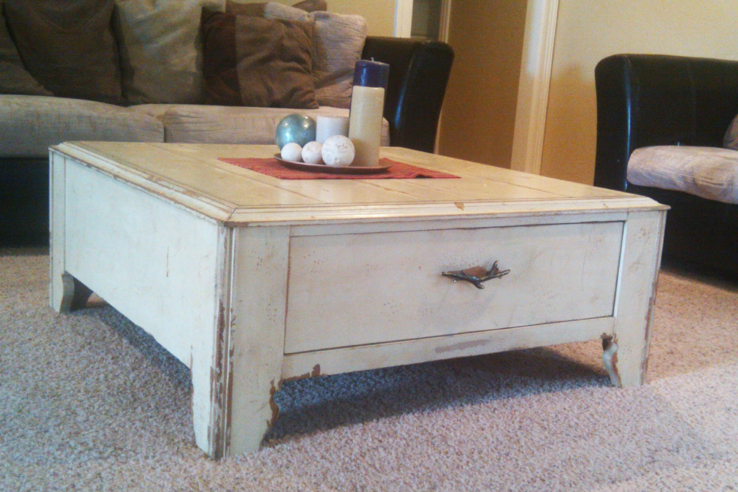 Rustic White Wood Coffee Table Coffee Table Coffee Table Distressed with dimensions 2514 X 1676