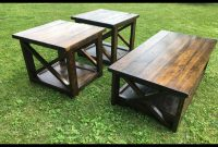 Rustic X Coffee Table With Matching End Tables My Backyard Diy in size 2400 X 2400