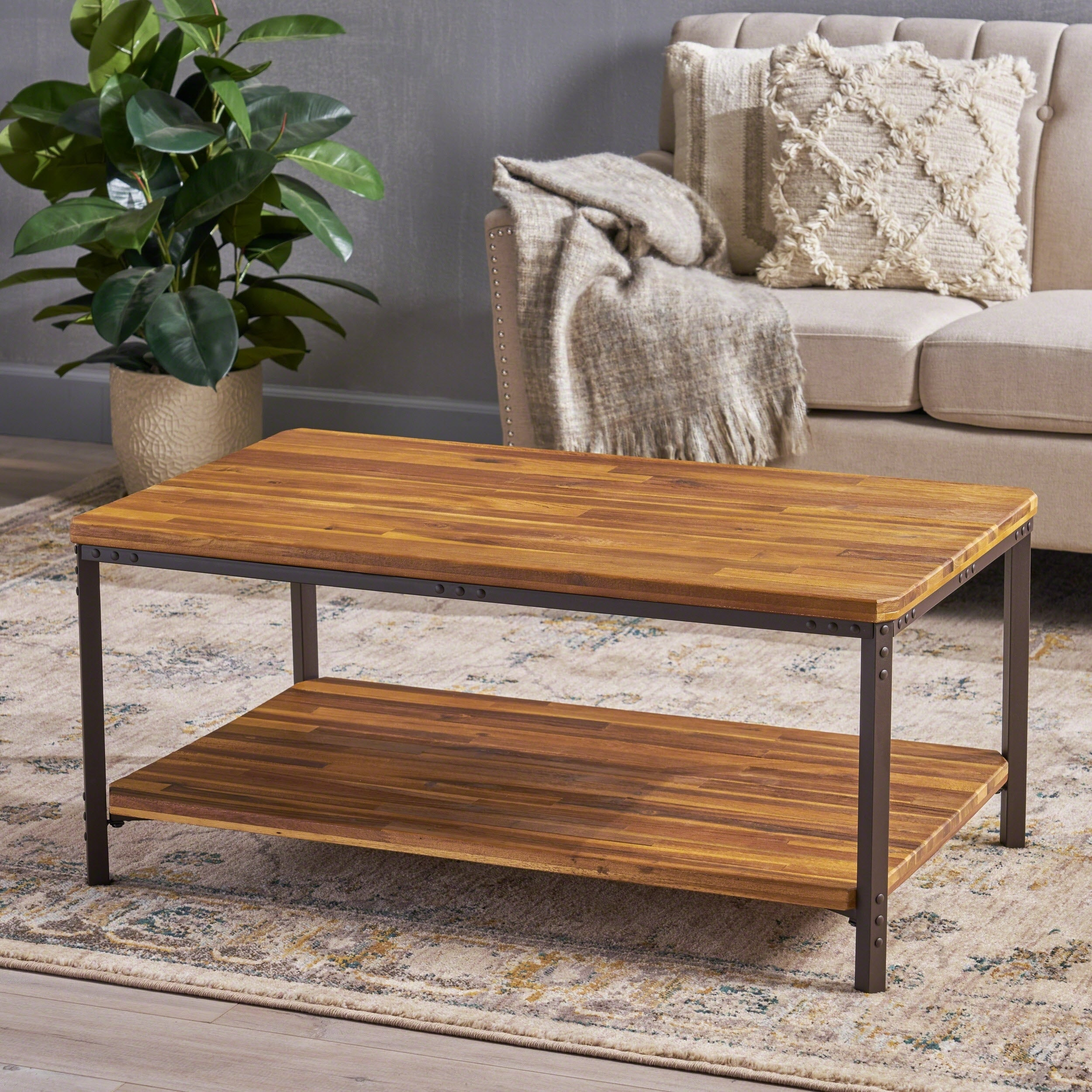 Ryder Sandblast Wood Finish Accentcoffee Table Christopher Knight Home within proportions 2500 X 2500