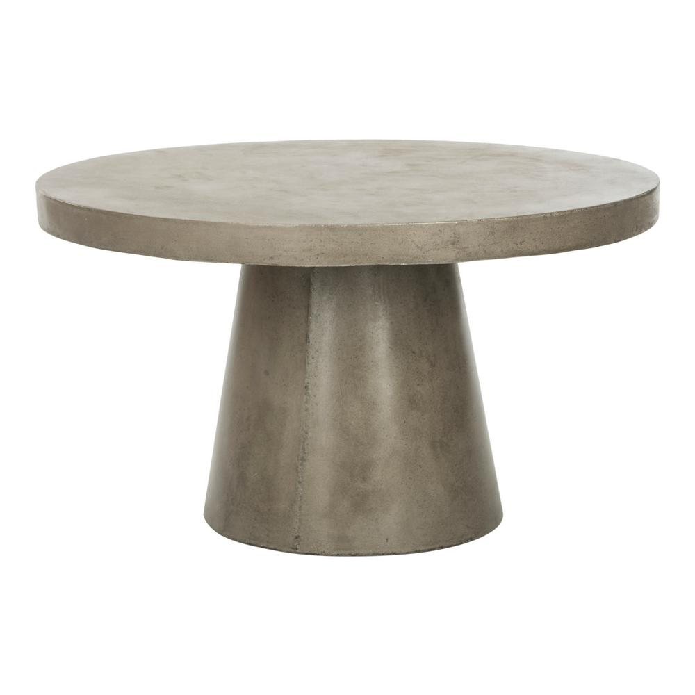 Safavieh Delfia Dark Gray Stone Indooroutdoor Coffee Table Vnn1014a for sizing 1000 X 1000