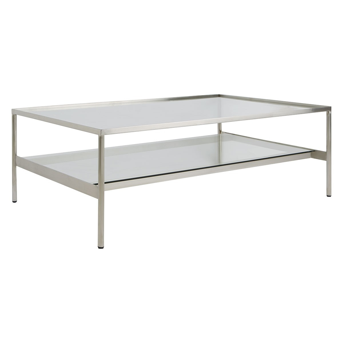 Seattle Chromed Metal And Glass Coffee Table inside proportions 1200 X 1200