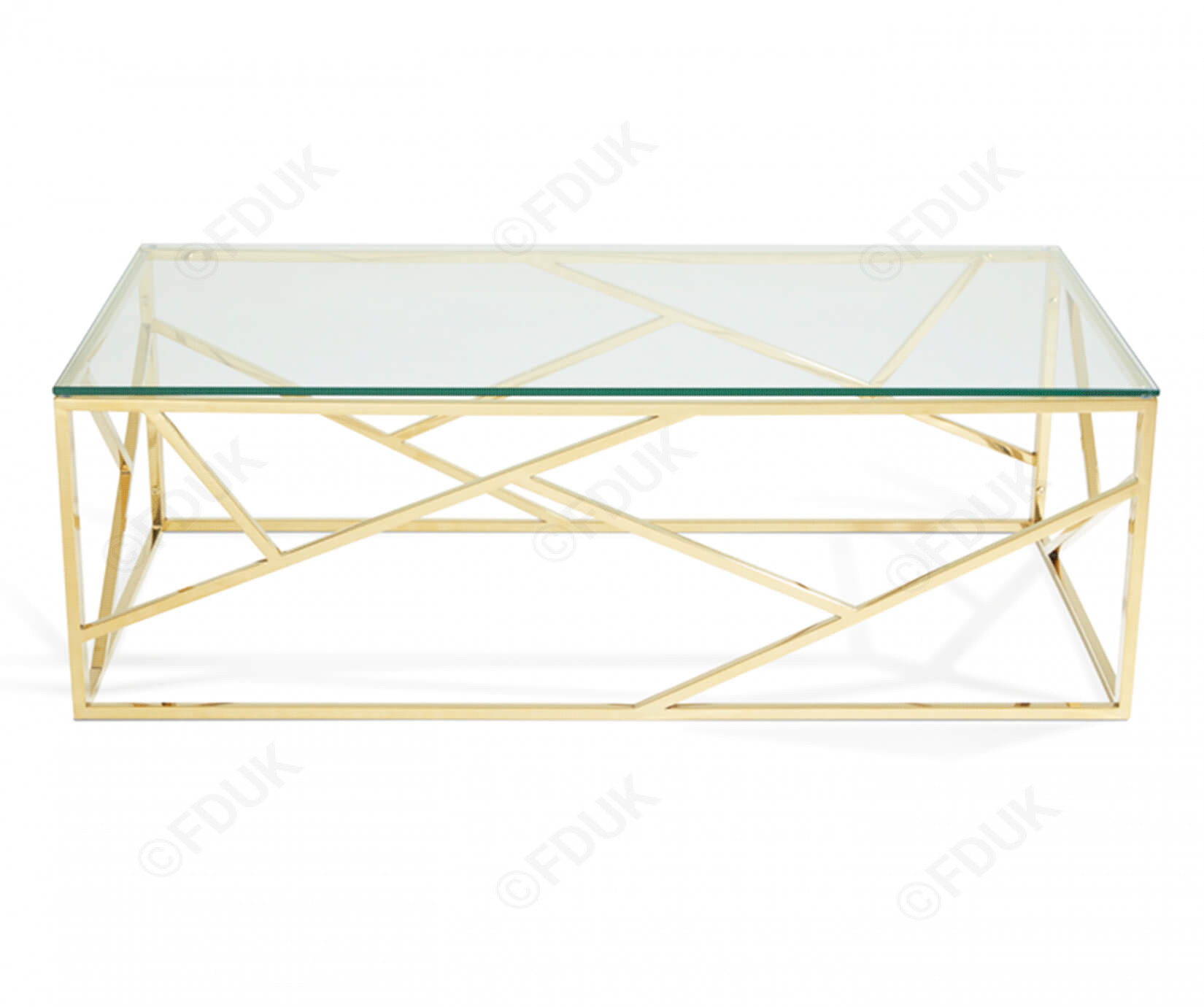 Serene Furnishings Phoenix Gold Frame With Clear Glass Top Coffee pertaining to size 1650 X 1380