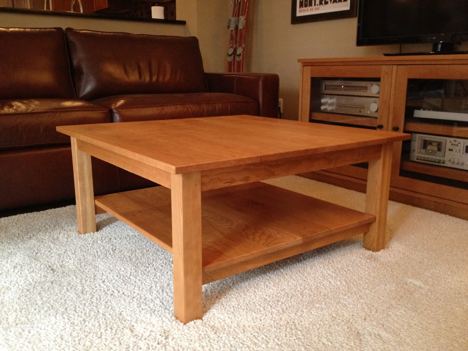 Solid Cherry Coffee Table Hipenmoedernl throughout size 1632 X 1224