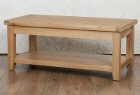 Solid Chunky Oak Harrogate Natural Fully Assembled Coffee Table Rrp with measurements 1000 X 800