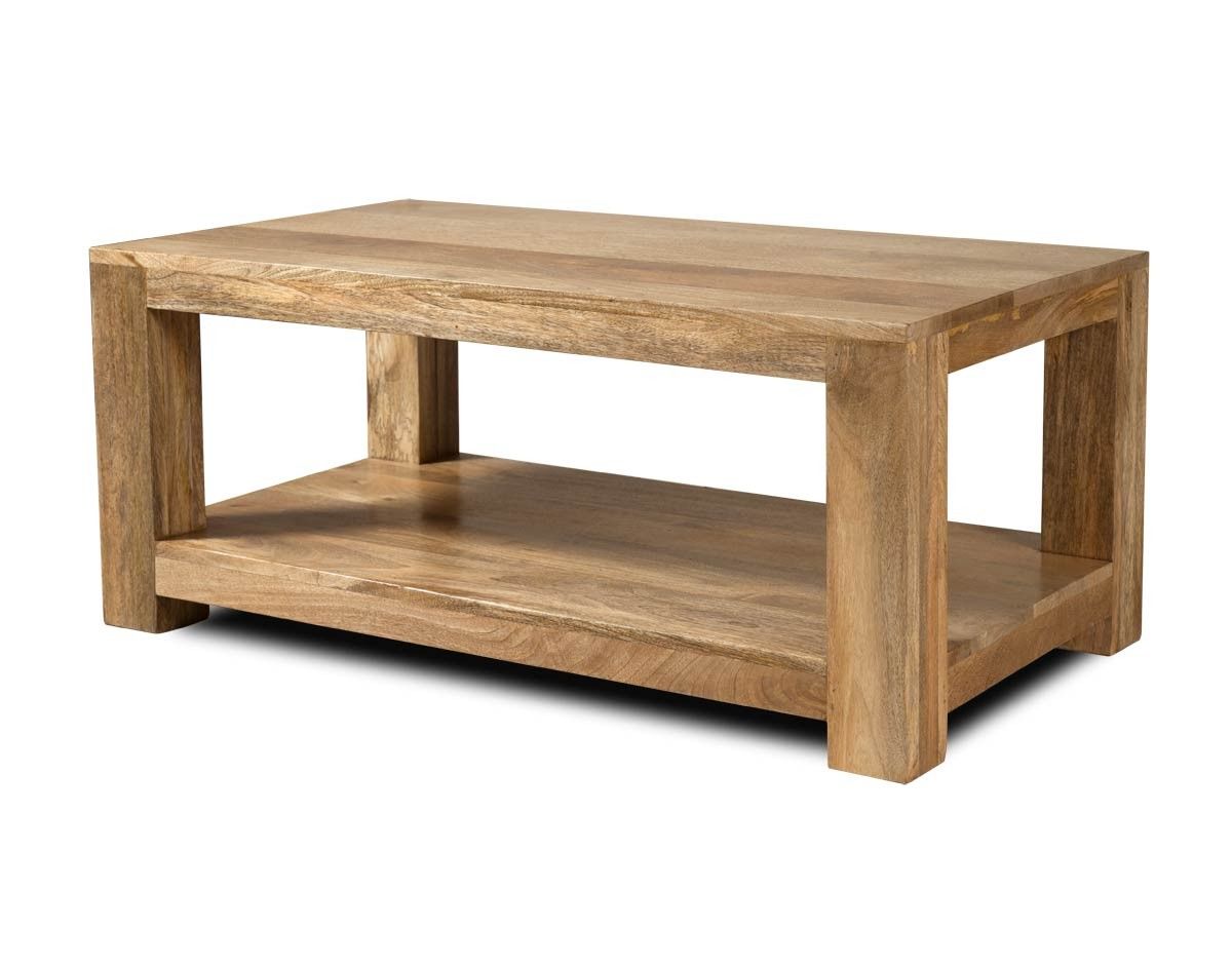 Solid Wood Open Coffee Table Mango Wood Table Casa Bella for size 1200 X 943