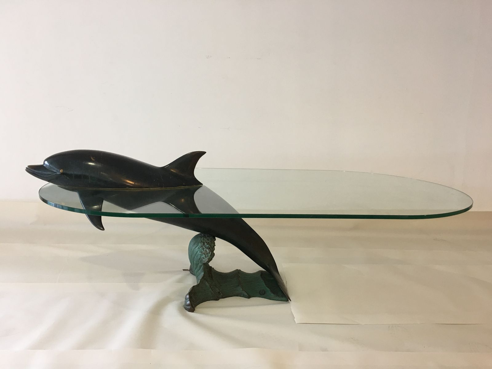 Spanish Dolphin Coffee Table In Solid Bronze From Valenti 1980s For within size 1600 X 1200