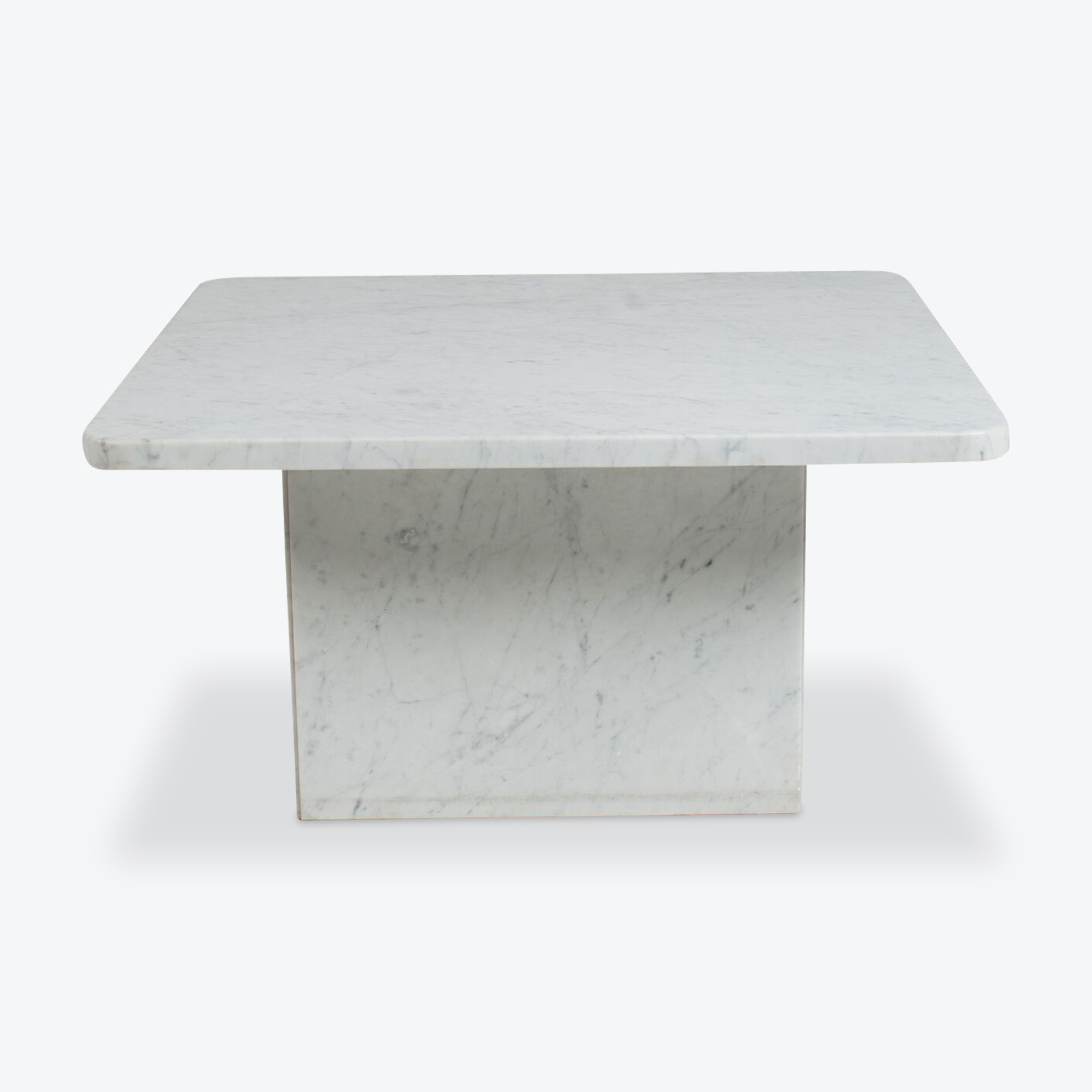 Square Coffee Table In Marble With Rounded Corners 1970s in measurements 1600 X 1600