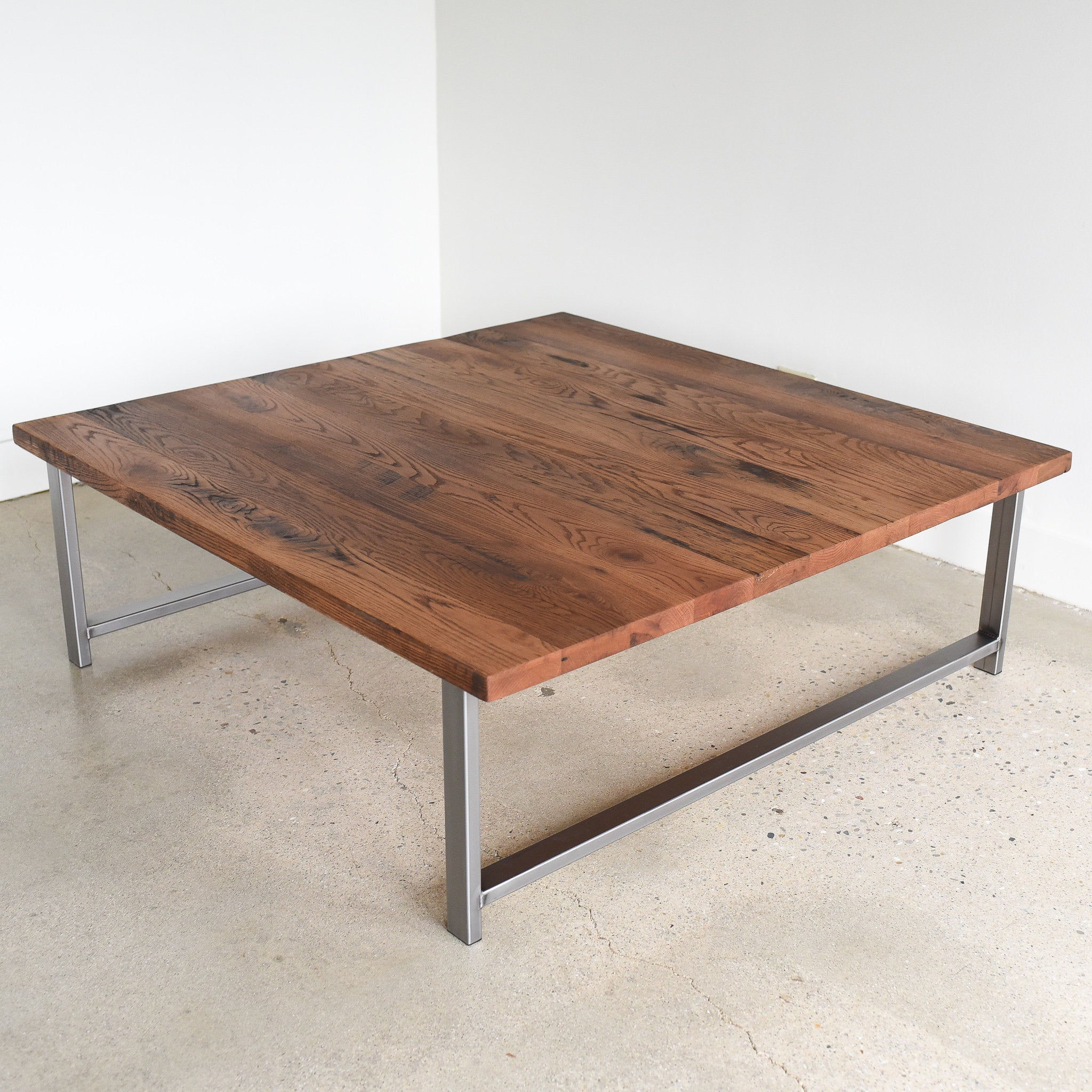 Square Coffee Table Large Reclaimed Wood Coffee Table With Etsy with proportions 2048 X 2048