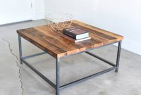 Square Coffee Table Rustic Reclaimed Wood And Steel Box Etsy pertaining to size 3000 X 3000