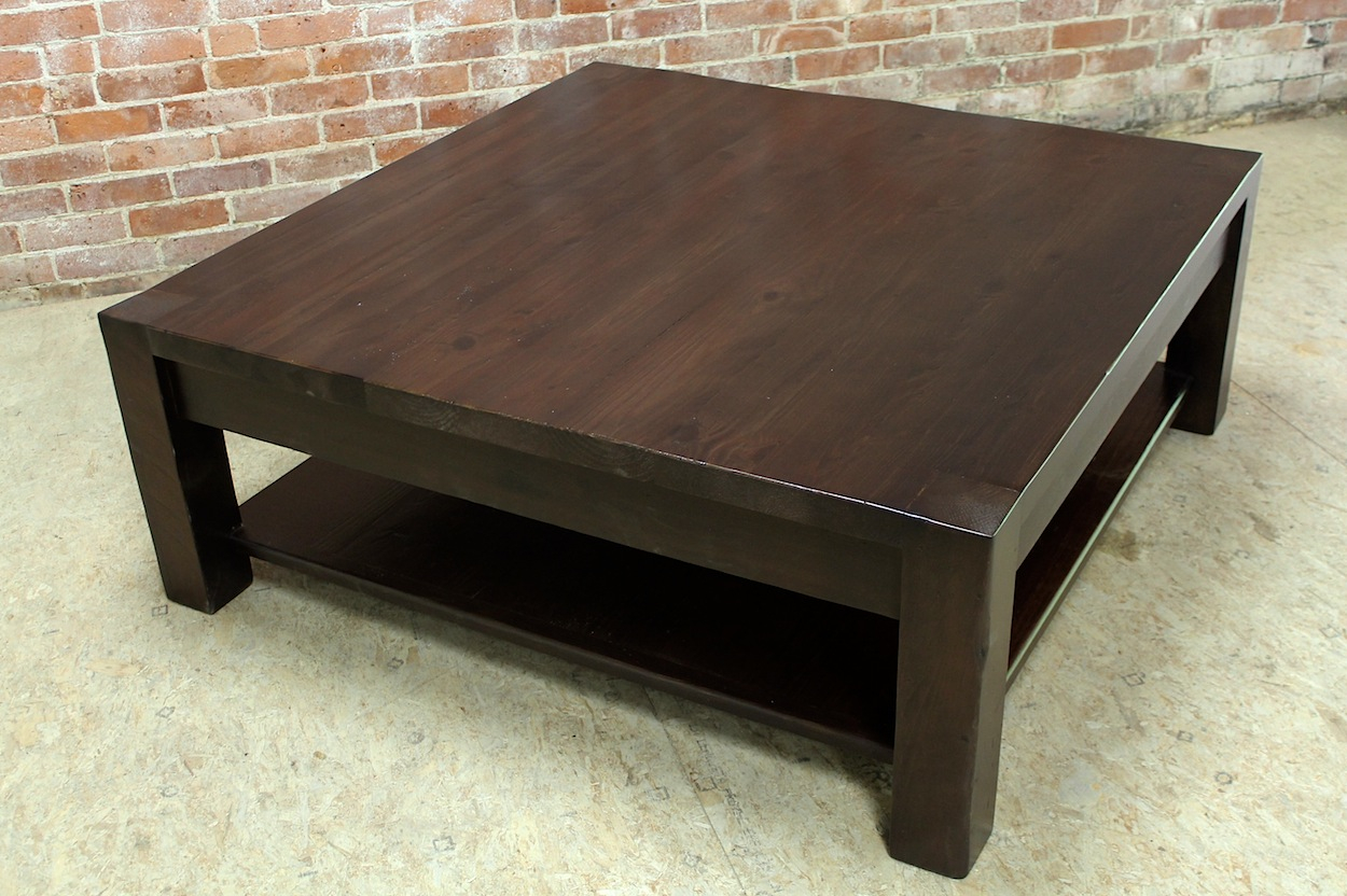 Square Parsons Coffee Table In Espresso Ecustomfinishes with regard to measurements 1250 X 832