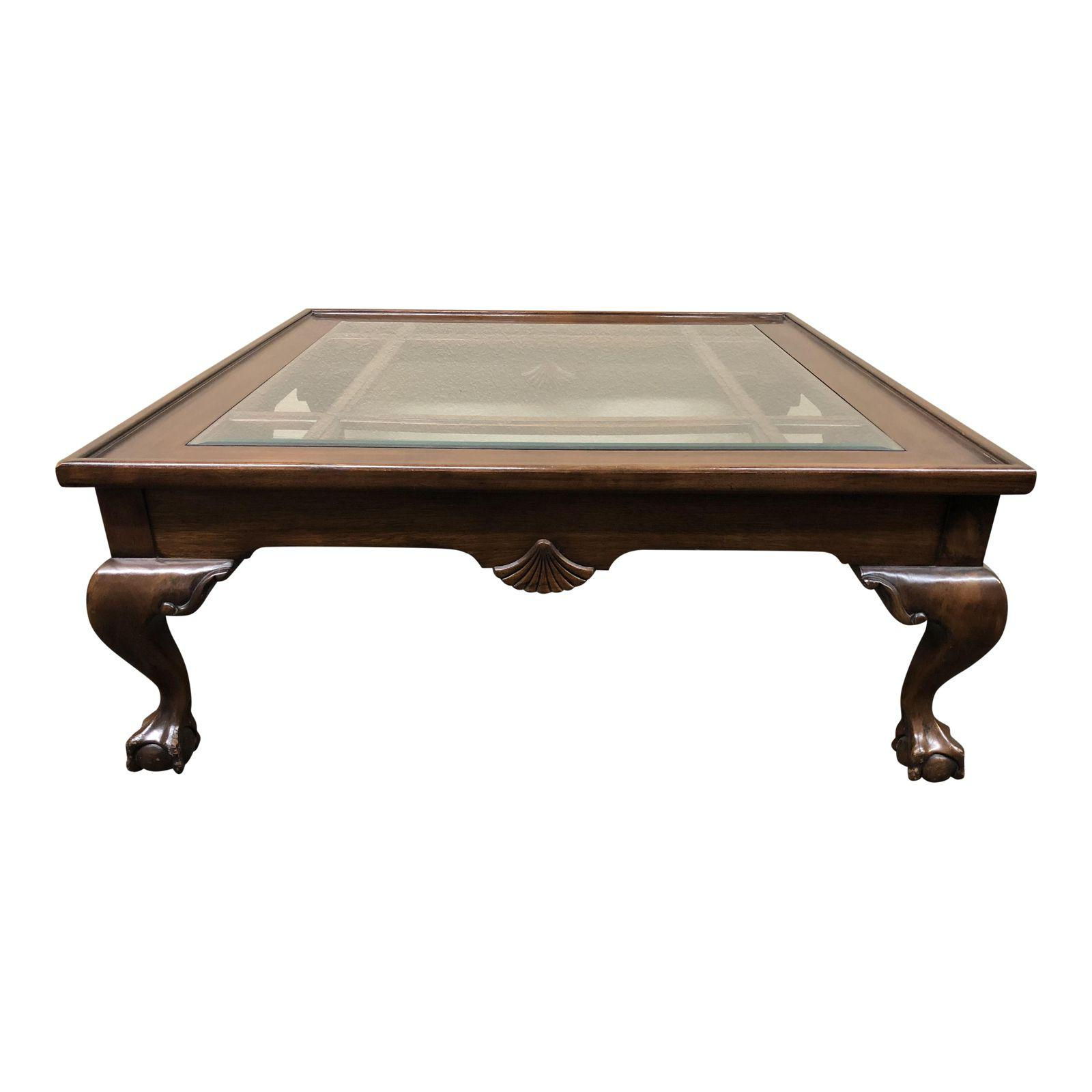 Square Wood Glass Insert Coffee Table Design Plus Gallery regarding proportions 1600 X 1600