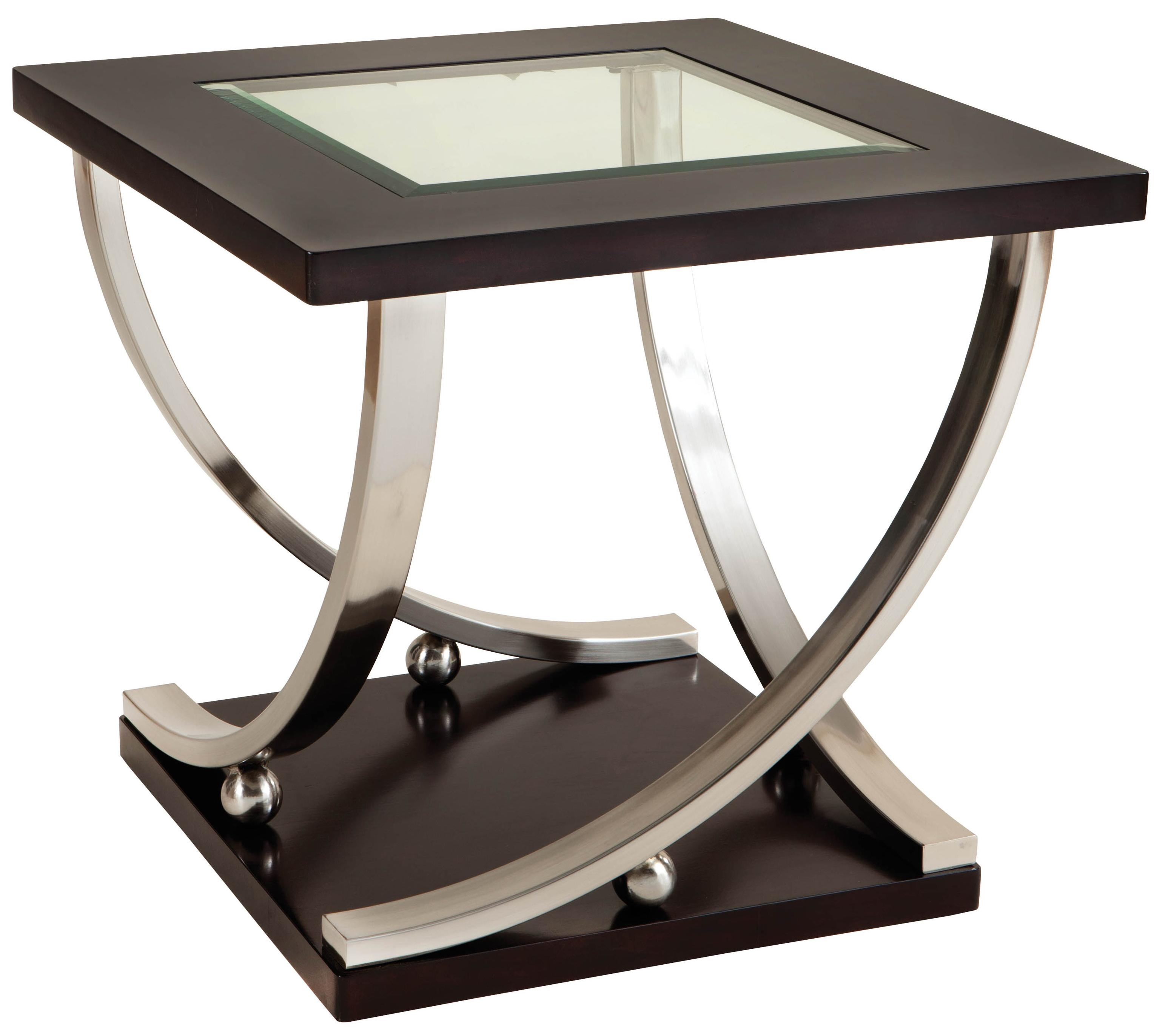 Standard Furniture Melrose Square End Table With Glass Table Top regarding dimensions 3094 X 2744