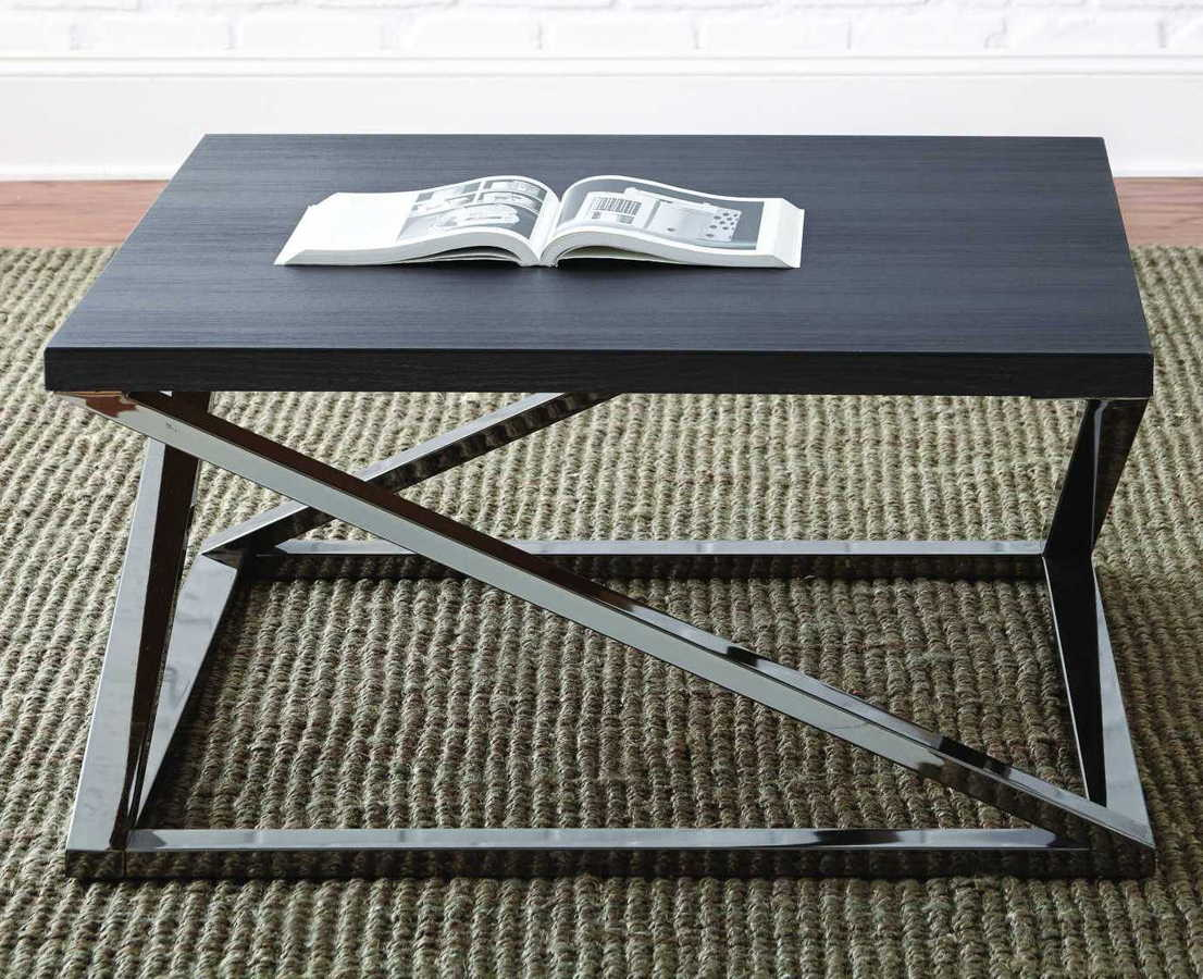 Steve Silver Aegean Black Cocktail Table The Classy Home with measurements 1106 X 900