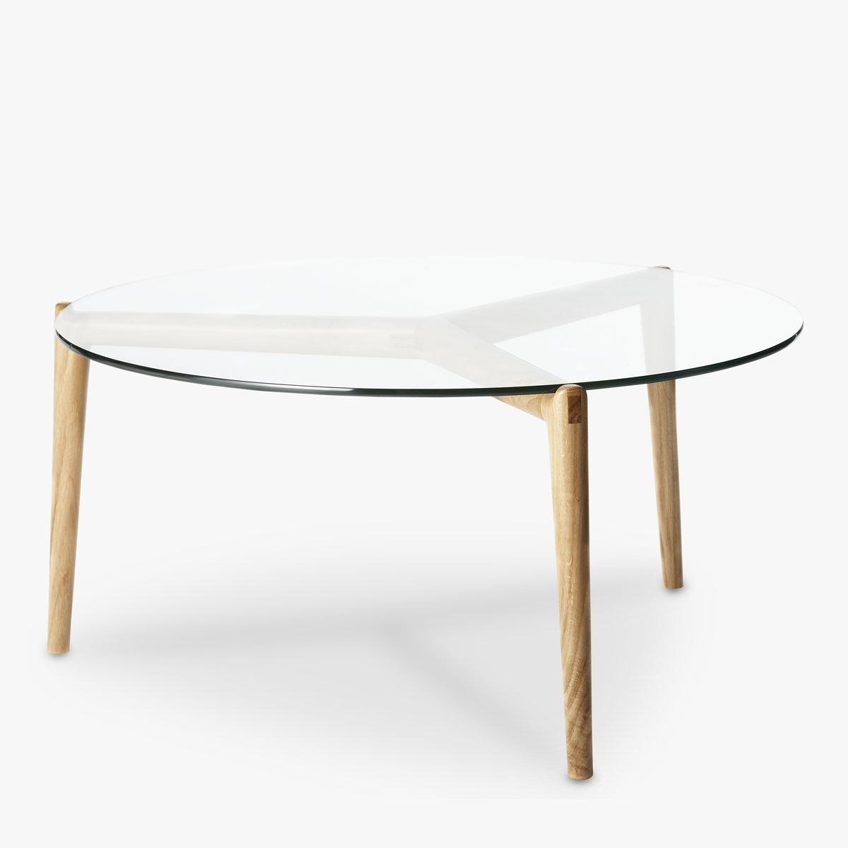 Stobie Coffee Table Oak Glass Top Great Dane for size 1200 X 1200