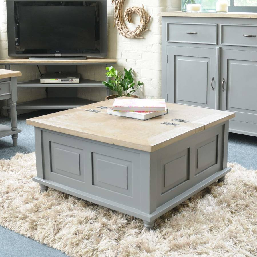 Storage Trunk Coffee Table Grey Or Antique White The Orchard with size 899 X 900