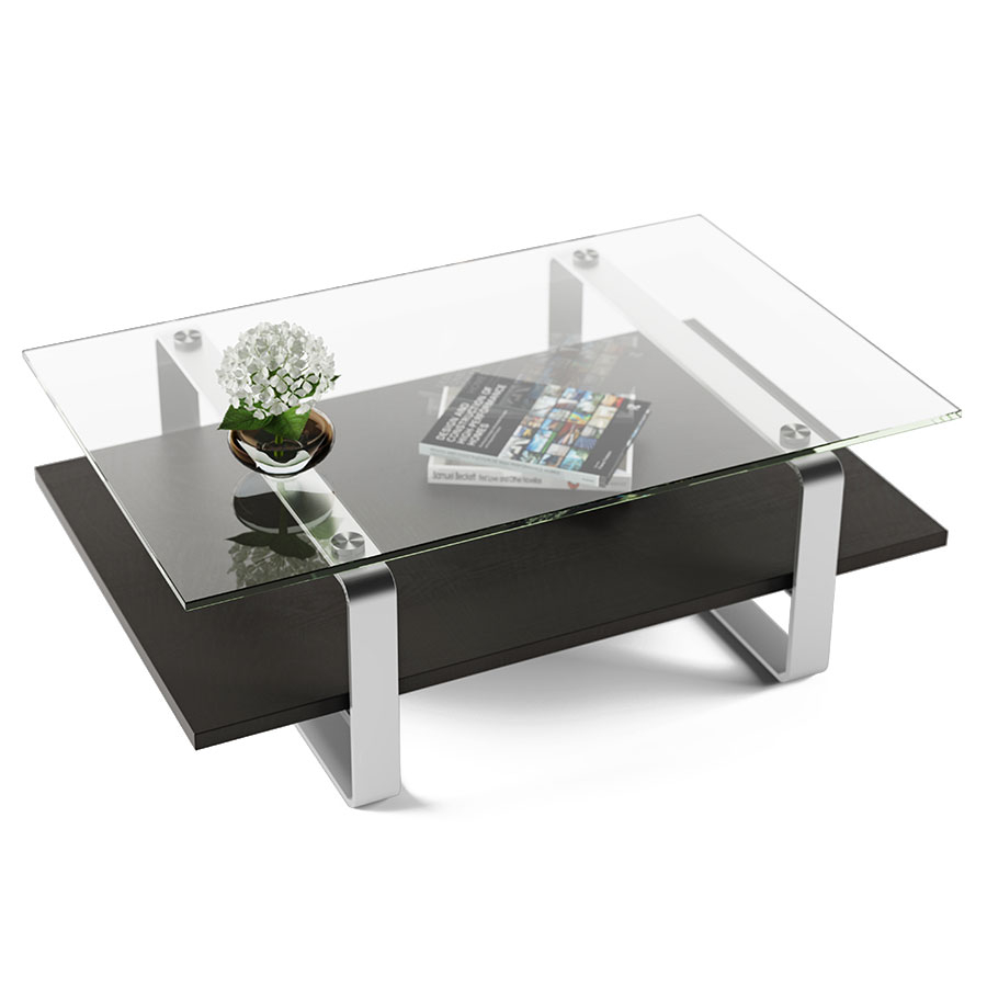 Stream Modern Charcoal Coffee Table Bdi Eurway with regard to sizing 900 X 900