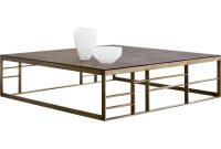 Sunpan Club Collection Joanna Coffee Table Square Brown Glass inside measurements 1200 X 1200