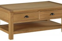 Sweet Dreams Kielder Solid Oak Coffee Table With 2 Drawers From The inside dimensions 1772 X 955