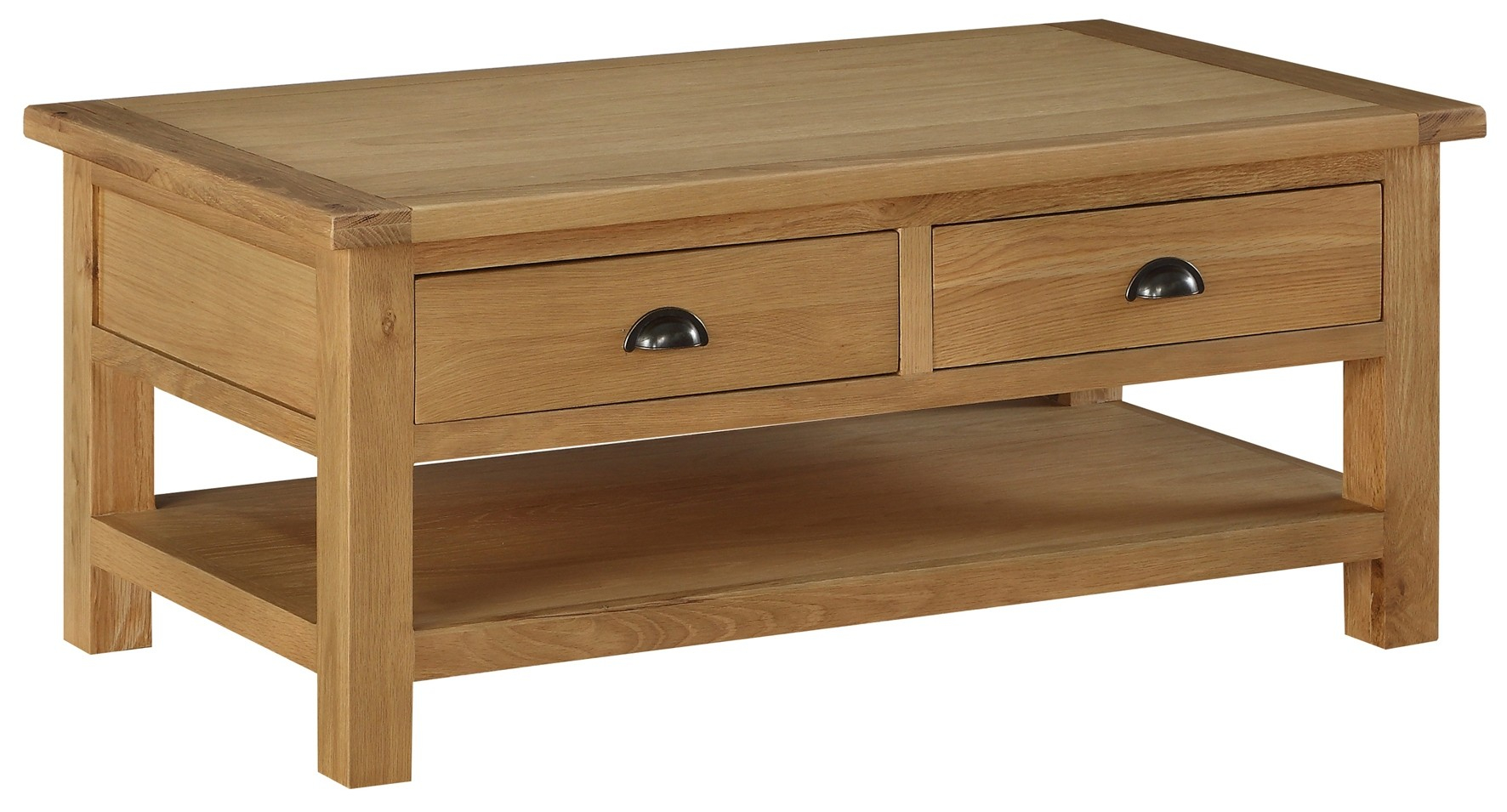 Sweet Dreams Kielder Solid Oak Coffee Table With 2 Drawers From The throughout proportions 1772 X 955