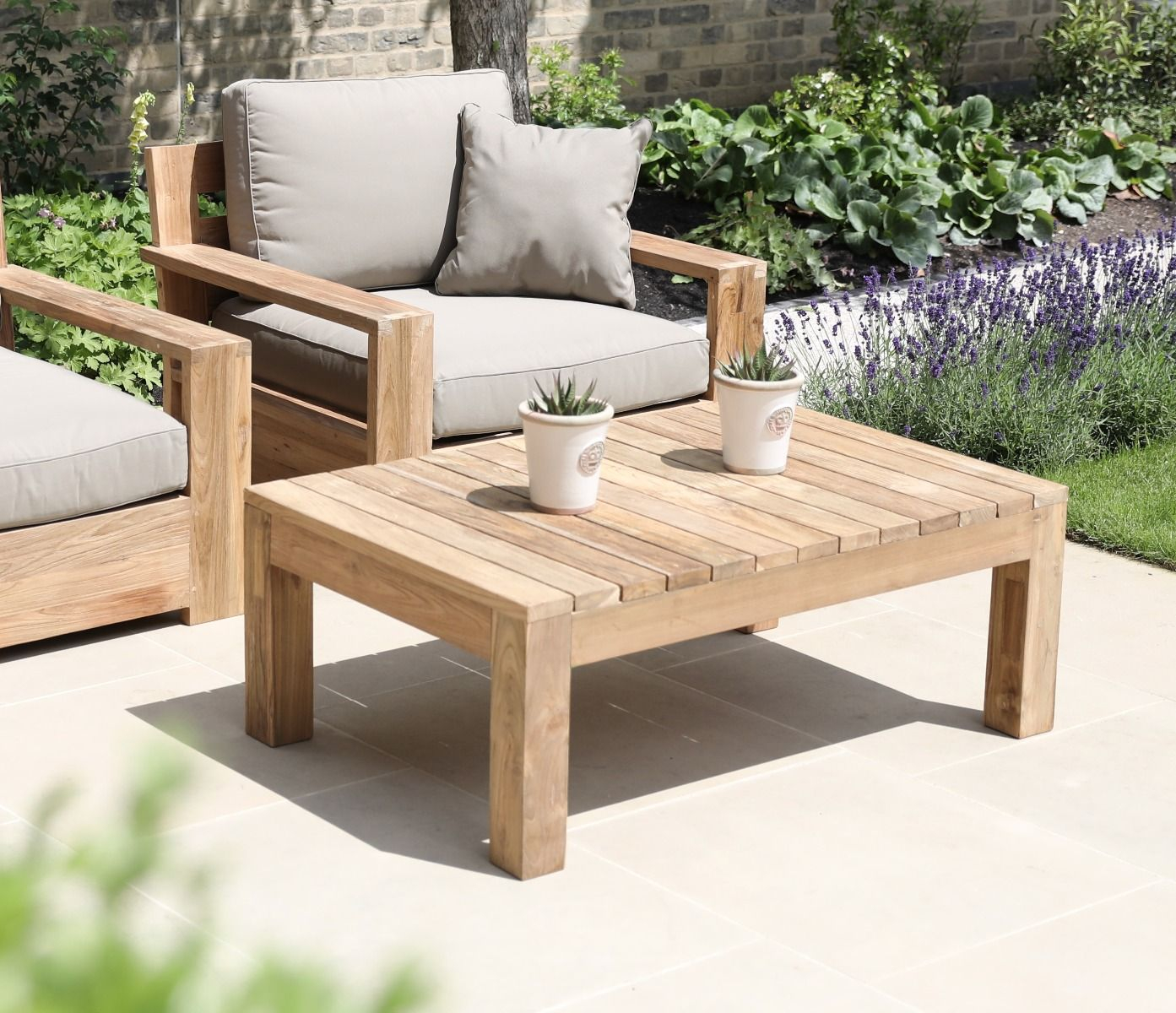 Teak Outdoor Coffee Table Jo Alexander with proportions 1393 X 1200